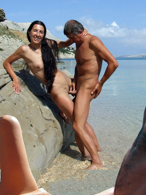 Nudist porn photo with mature women